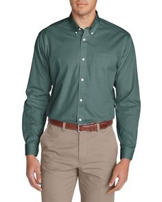 Chris=LG tall, Item#: i34 792 7844 Wrinkle-free Classic Fit Pinpoint Oxford Shirt - Solid   Eddie Bauer