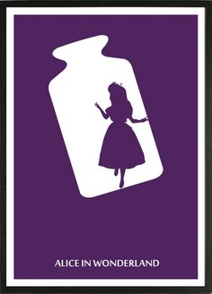 Alice in Wonderland [Clyde Geronimi & Wilfred Jackson, «Disney Minimalist. - Alice in Wonderland [Clyde Geronimi & Wilfred Jackson, «Disney Minimalist… Alice in Wond - Disney Movie Posters, Disney Films, Disney And Dreamworks, Film Posters, Disney Love, Disney Magic, Disney Art, Lewis Carroll, Arte Do Harry Potter