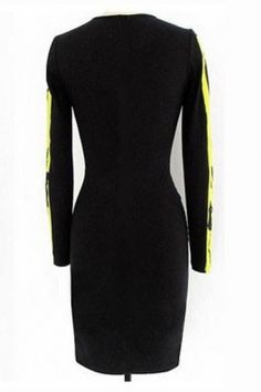 Beyonce O Neck Yellow Sheath Dress   Ideias inspiradoras