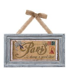 Look at this #zulilyfind! 'Always a Good Idea' Wall Sign #zulilyfinds