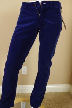 $995 Tom Ford Blue TF003 Corduroy Pants sz 52 36 Straight Jeans Trousers Gucci #TomFord #ClassicStraightLeg