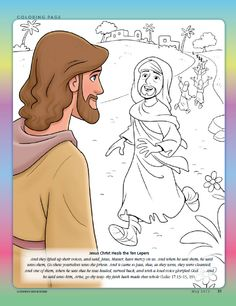 Jesus Christ Heals The Ten Lepers Bible Story CraftsBible StoriesKids ColoringColoring PagesVacation