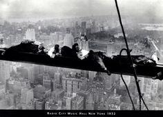 Men on Beam - Radio City 1935 Prints at AllPosters.com