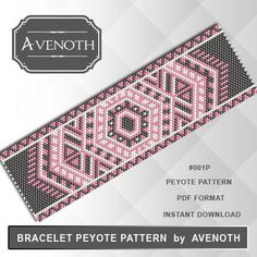 Hey, I found this really awesome Etsy listing at https://www.etsy.com/listing/464179151/peyote-bracelet-pattern-peyote-pattern