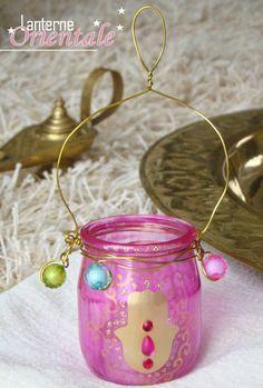 oriental lantern pot of yoghurt - New Deko Sites Ramadan Lantern, Tiki Statues, Ramadan Gifts, Crafts For Kids, Diy Crafts, Baby Food Jars, Ramadan Decorations, Lanterns, Recycling