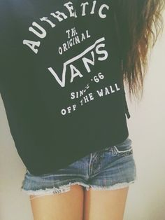 .Vans sweater and shorts