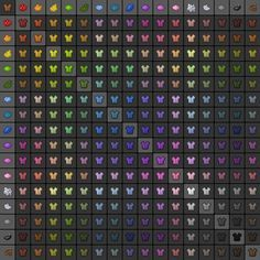 Chart of two-color combinations for dying leather armor. Minecraft Banners, Minecraft Projects, Minecraft Crafts, Minecraft Ideas, Leather Dye, Leather Armor, Chart, Color Combinations, Parties