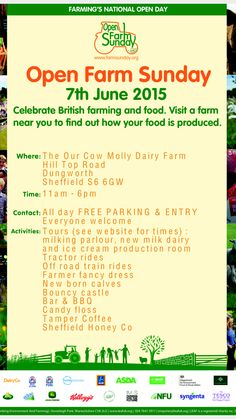 YOU ARE INVITED TO @OpenFarmSunday at the #OurCowMolly farm June 7th 11am - 6pm