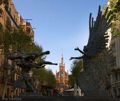 Avenue de Gaudi. Barcelona, Spain. Read more >>> http://victortravelblog.com/2015/08/25/hospital-de-la-santa-creu-i-sant-pau-barcelona-spain/