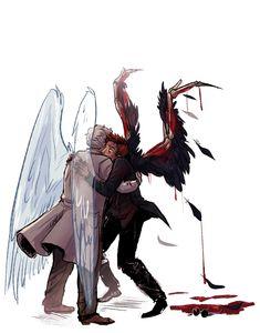 A Normal Human - Levi Jäger - yaoi-blcd Good Omens Book, Fanart, Arte Sketchbook, Estilo Anime, Angels And Demons, Cartoon Movies, Comic Movies, Crowley, Best Couple