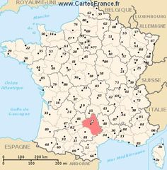 AVEYRON : Carte, plan departement de l' Aveyron 12