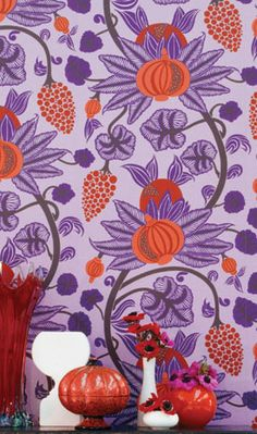 Beautiful wallcoverings from Grizzel and Mann