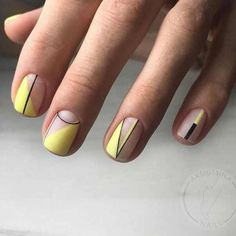 Geometric nail art designs look beautiful and chic on short and long nails. Geometric patterns in any fashion field are the style that fashionistas dream of. This pattern has been popular in nail art for a long time, because it is easy to create in n Matte Acrylic Nails, Acrylic Nail Designs, Nail Art Designs, Gel Nails, Manicures, Nails Design, Matte Nail Polish, Short Nail Designs, Salon Design