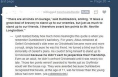 Dumbledore awarding Neville 10 house points in Year 1.--Wow I never thought about this!