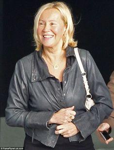 ABBA singer Agnetha Faltskog at an UK airport on November 12, 2013.