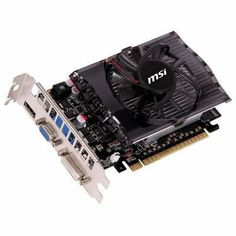MSI N630GT-MD4GD3 GeForce GT630 4GB DDR3 128bit PCIE Video Card DVI/HDMI/VGA by MSI. $87.49. Description:Features: 4GB DDR3 Memory Design - The first product of GT 630 series with 4GB memory. - 4GB memory provides better experience for ultra-high resolution PC games and movies. Video Capture - Predator - FREE bundle within Afterburner 2.10!! - Support real-time video capturing. - Multi-thread supported. Afterburner Overclocking Utility - Support in-game video recording. - Suppo...