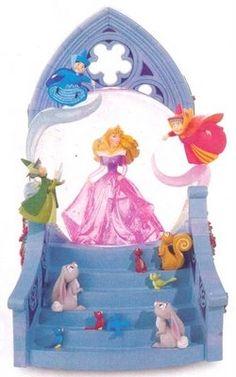 Disney sleeping beauty and Fairies snowglobe