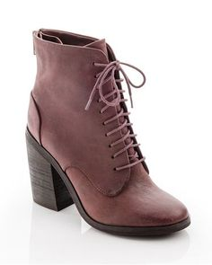 Faded burgundy boots