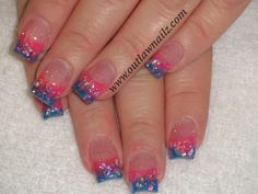 Nails Mylar Nails, Acrylic Nail Art, Nail Ideas, Projects To Try, Nail Designs, Glitter, Awesome, Makeup, Hair