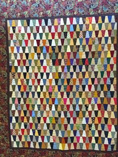Pieced by Sheila and quilted by Phyllis Davis. Quilting Tips, Hand Quilting, Tumbler Quilt, Scrappy Quilts, New Hobbies, Paper Piecing, Quilt Blocks, Embroidery, Stitch