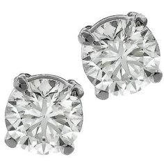 1.42ct Diamond Gold Stud Earrings