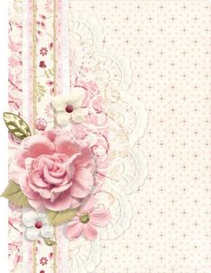 Shabby Chic Pink Paint Styles and Decors to Apply in Your Home – Shabby Chic Home Interiors Vintage Diy, Vintage Cards, Vintage Paper, Vintage Images, Background Vintage, Paper Background, Shabby Chic Background, Paper Art, Paper Crafts
