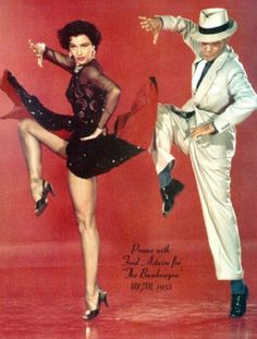And, this is how it's done ... STYLE, ATTITIUDE,   CHARISMA   ...... Cyd Charisse and Fred Astaire stepup2dance.com