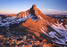 Wetterhorn Peak, Uncompahgre Wilderness, fourteener, sunset, San Juan Mountains, Colorado, photo