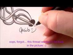How to draw tanglepattern Quib - YouTube