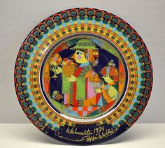 Bjorn Wiinblad for Rosenthal Christmas plate 1974 - Balthazar