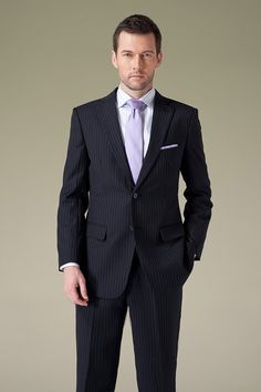 Handmade Classic Navy Blue Mens Formal Suit by UPUNIQUE