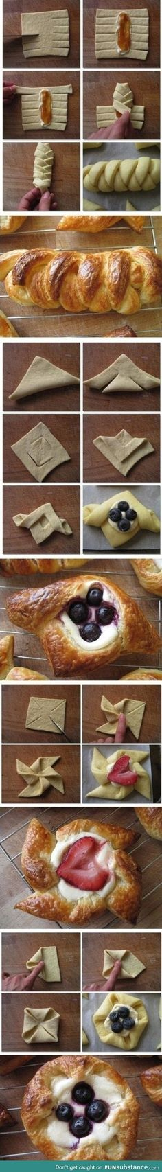 The art of folding pastry