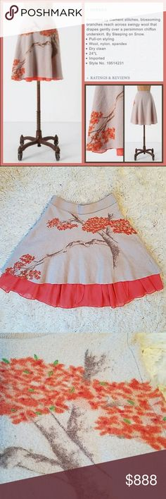 Anthropologie Sleeping in Snow Soft Sakura Skirt Excellent condition! Details to come. Anthropologie Skirts Circle & Skater