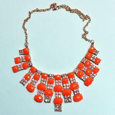 Orange Holiday Necklace $28.00