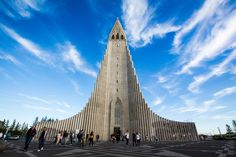 Reykjavik, Iceland has a small-town feel full of life, color, and charm. Here are 10 things you can't miss while you're in Reykjavik. Tours In Iceland, Iceland Travel, Reykjavik Iceland, Largest Waterfall, Island Nations, Famous Landmarks, Kirchen, Best Cities, Walking Tour