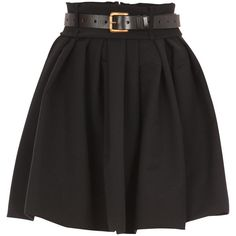 Preen skirts BLACK ($710) ❤ liked on Polyvore