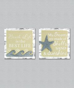 Take a look at this Yellow 'Beach Life' Sign - Set of Two today!
