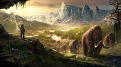 Takkar Mammoths Far Cry Primal HD Wallpaper