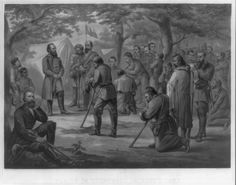 """MEN KNEELING IN PRAYER. Prayer in """"Stonewall"""" Jackson's Camp - General Jackson is standing at left. Men habitually knelt to pray. Library of Congress, Prints and Photographs Division, Kneeling In Prayer, Christian Soldiers, Stonewall Jackson, Culture War, America Civil War, Prayer Warrior, Military History, Civilization, American History"""