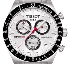 Tissot PRS 516 Quartz Chronograph Movement: ETA quartz Case: Polished and brushed stainless steel. Fitness Watches For Women, Best Watches For Men, Luxury Watches For Men, Cool Watches, Armani Watches, Rolex Watches, Wrist Watches, Tissot Prs 516, Swiss Army Watches