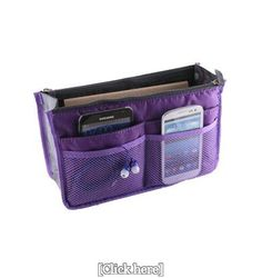Enthusiastic New Multifunction Cosmetic Bag Felt Fabric Purse Handbag Organizer Insert Bag Case Digital Gear Bags