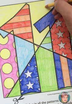 Art project for September 11th and all other American Patriotic holidays and events. Interactive coloring and pattern filled coloring sheets for kids.