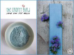 Mléčná barva SHANNON SLATE modro-šedýodstín od The Crafty Bird Milk Paint.
