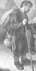Gerrit Dou, The begger 1654