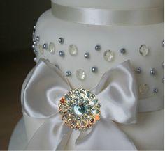 Edible Sugar Diamond Brooch