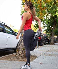 Grey Yoga Pants Red Tops Stretching Weight Gain Gray Outdoor Health Appreciationy Women Hipster Stuff Mindful Gray Grey Outdoors Salud