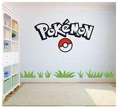 Pokemon Go Wall Art, Pokemon Wall Art, Wall Sticker Decal, Kids Room, Bedroom Wall Art