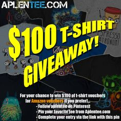 WIN $100 of t-shirt or Amazon vouchers! Enter here: https://aplentee.com/competition/?rew=APL3PIN