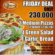 Khuyến mãi Al Fresco's Friday Deal 2 bánh pizza cỡ vừa chỉ 230.000VND