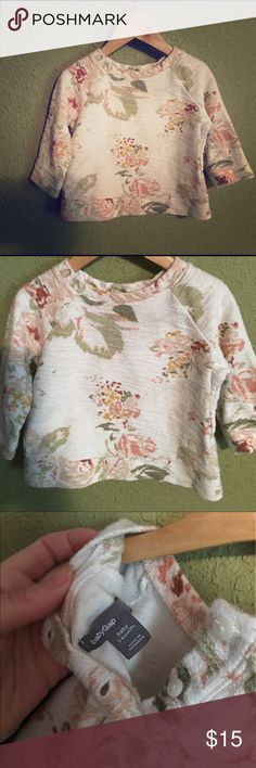 Baby GAP Floral sweatshirt 3/6 months Floral baby Gap sweatshirt 3/6 month perfect condition. So precious, it was one of my favs for my baby girl. Listing several sweatshirts in this size will combine, open offers. Posh on ✌🏽 GAP Shirts & Tops Sweatshirts & Hoodies